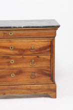 Load image into Gallery viewer, LOUIS PHILIPPE COMMODE WITH GREY MARBLE TOP