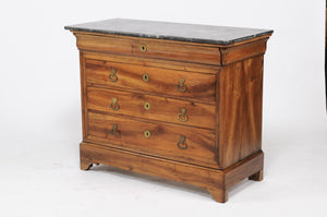 LOUIS PHILIPPE COMMODE WITH GREY MARBLE TOP
