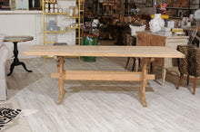 Load image into Gallery viewer, Swedish Stripped Pine Farm Table with Trestle Base from the Late 19th Century