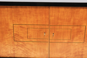 De Coène Frères Brutalist Period Stained Oak Sideboard with Contrasting Colors