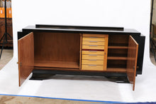 Load image into Gallery viewer, De Coène Frères Brutalist Period Stained Oak Sideboard with Contrasting Colors
