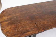 Load image into Gallery viewer, Early 20th Century Oak Trestle Dining Table