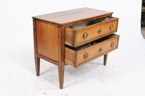 Pine and Walnut Louis XVI-Style Commode