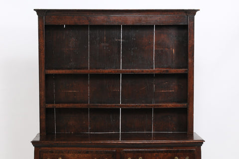 Chippendale Breakfront Bookcase in Darkly Stained Oak