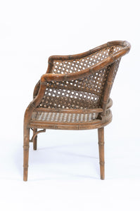 Oak Caned Arm Chair