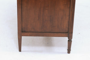 Walnut Commode with White Marble Top