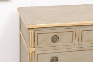 Painted Louis XVI Oak Commode