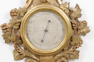 French Pine Barometer