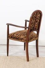 Load image into Gallery viewer, Animal Print Velvet Arm Chair