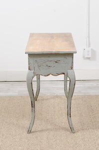 Blue Painted Pine Console
