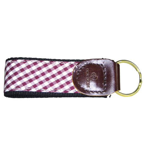 Olly Oxen Maroon and Black Key Fob