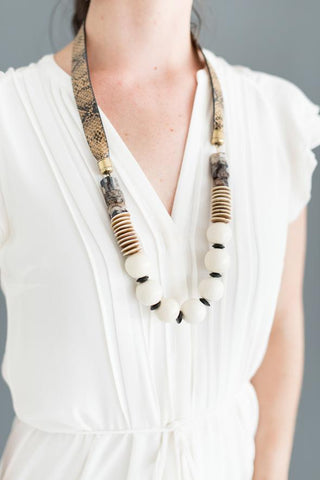 Shiver and Duke Alys Leather Necklace