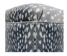 Load image into Gallery viewer, Navy Antelope Ottoman
