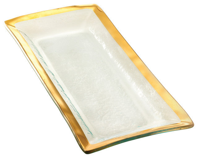 Annieglass Gold Appetizer Tray