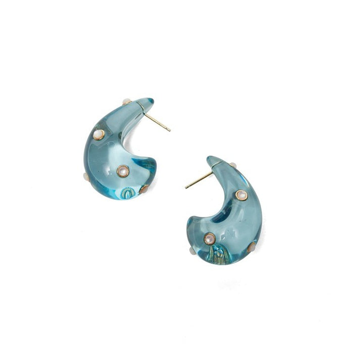 Lizzie Fortunato Arp Earrings in Aqua