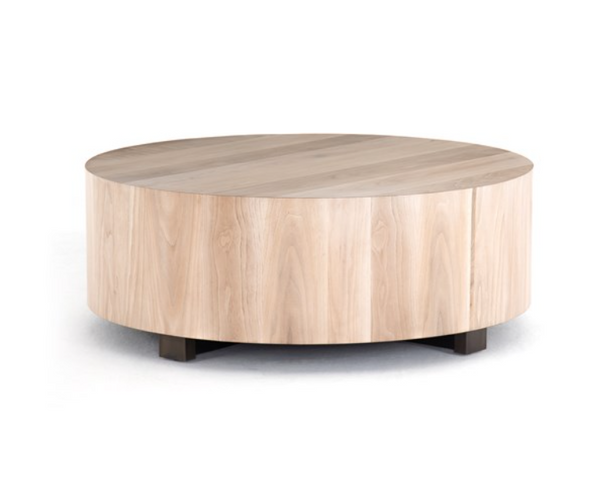 Round Ashed Walnut Coffee Table