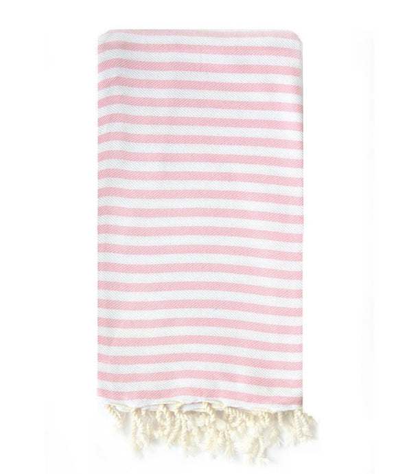 Turkish T Beach Candy Towel in Baby Pink