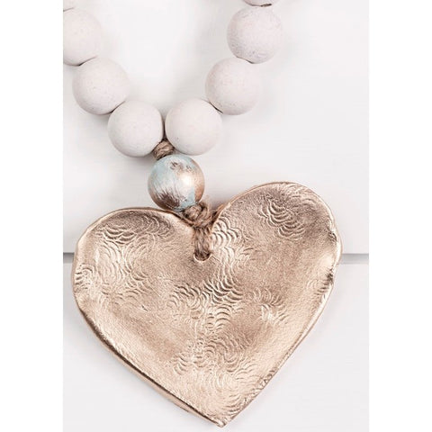 The Sercy Studio Bailey Cross/Heart Blessing Beads