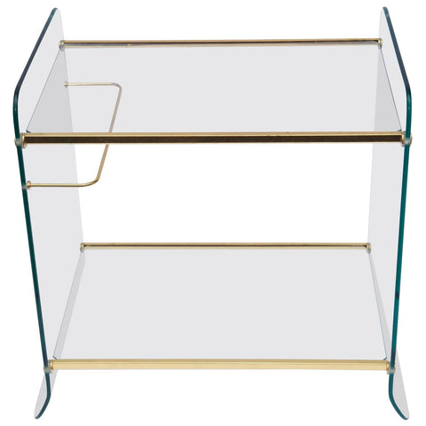 Gold and Glass French Bar Cart