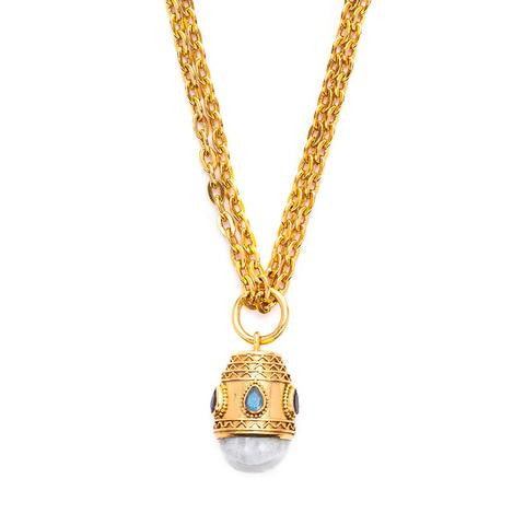 Julie Vos Baroque Small Pendant Necklace