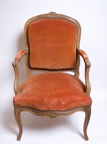 French Bergère Armchairs