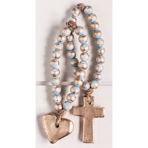 The Sercy Studio Bitty Blue Blessing Beads