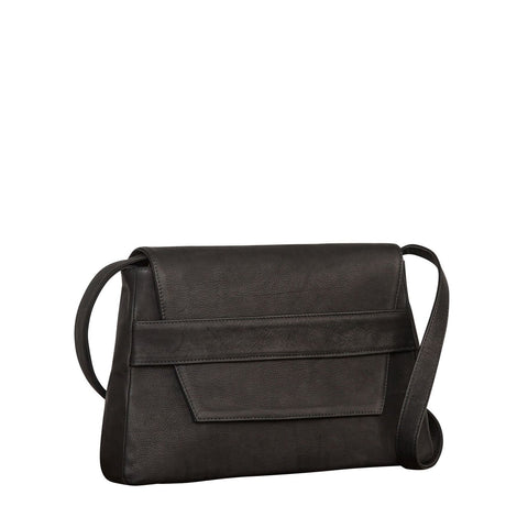 Challon Black Nubuck Crossbody