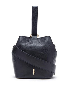 Loren Crossbody Bag in Black Pebble