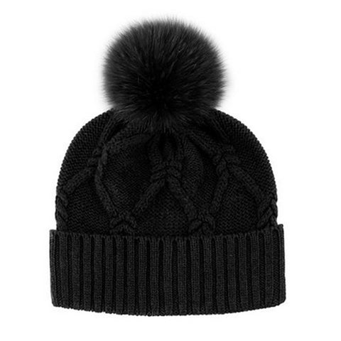 Knitted Pattern Wool Hat