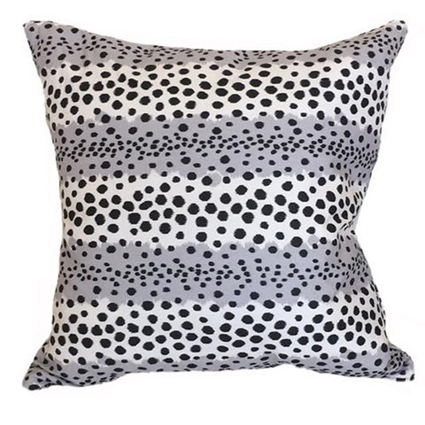 Ivy and Vine Black and White Spotted Pillow