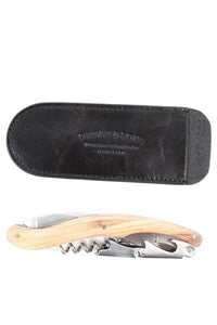 Orban & Sons Large Olivewood Corkscrew with Pouch