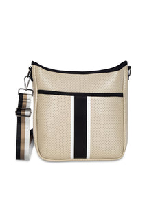 Neoprene Crossbody Bag in Beige Fleek