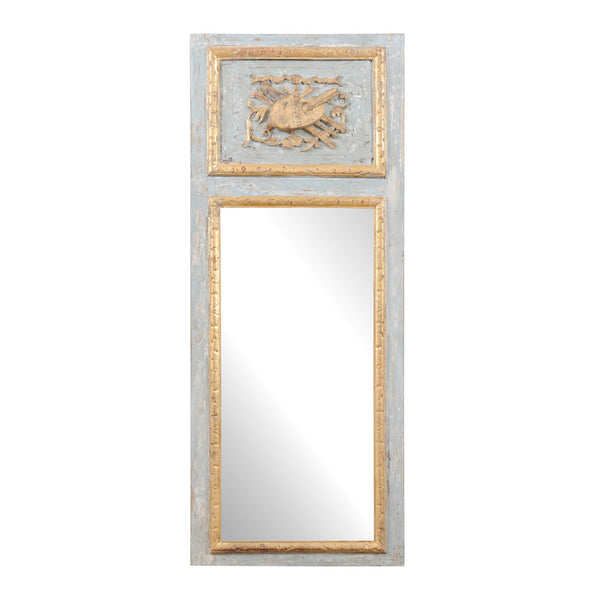 Blue Trumeau Mirror