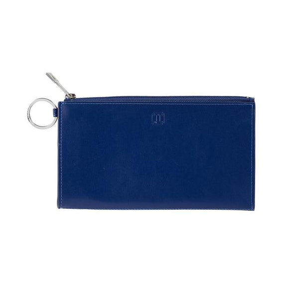 Large Leather Card Case - Mind Blowing Blue
