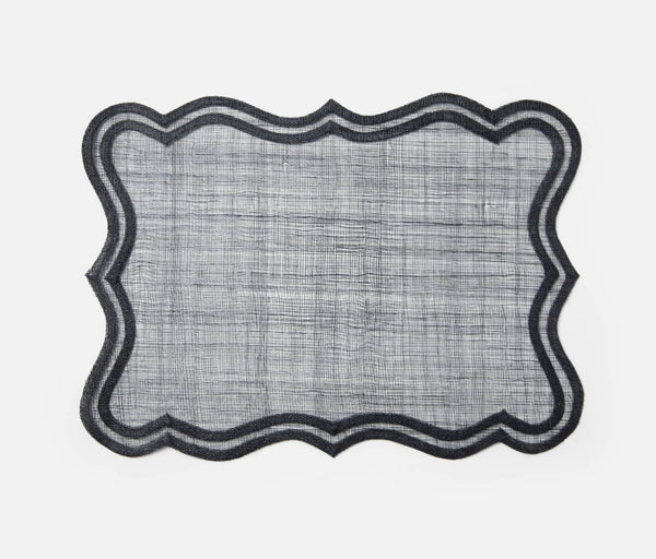 Wavy Edge Dark Navy Placemat
