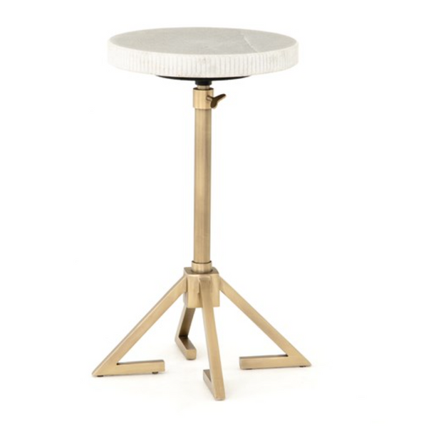 Marble Top Adjustable Accent Table
