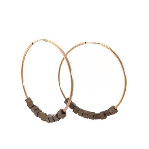Erin Gray Design Hoop with Bronze Earring