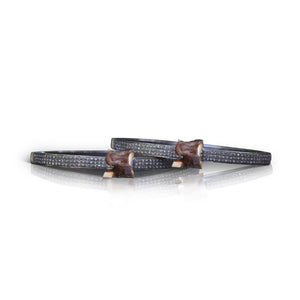 S. Carter Designs Brown Pave Vertebrae Bracelet