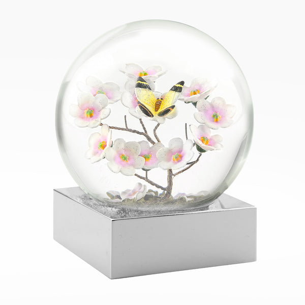 Butterfly on Branch Snow Globe