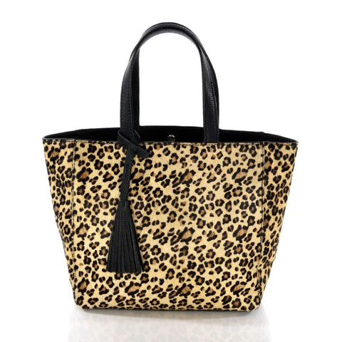 Loxwood Leopard Print Cabas Purse