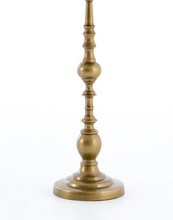 Load image into Gallery viewer, Antique Brass Pedestal End Table