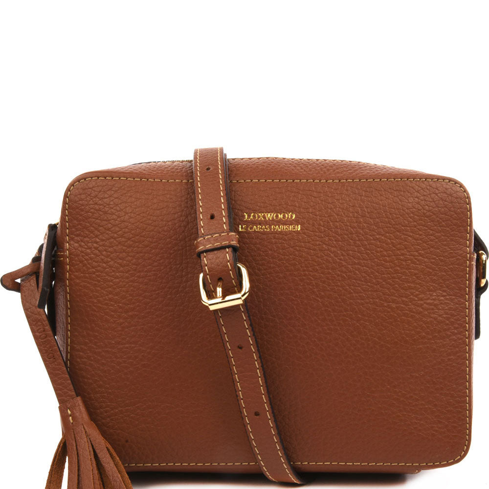 Loxwood Leather Crossbody Camera Bag in Honey