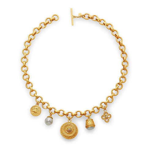 Julie Vos Carousel Charm Necklace