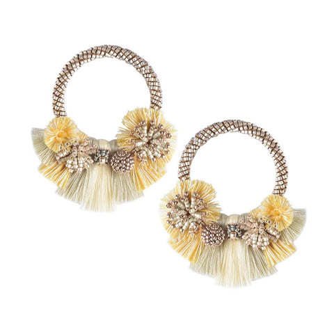 Cartagena Earrings in Gold, Beige and Yellow