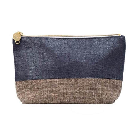 Christen Maxwell Casco Burlap Mini Cosmetic