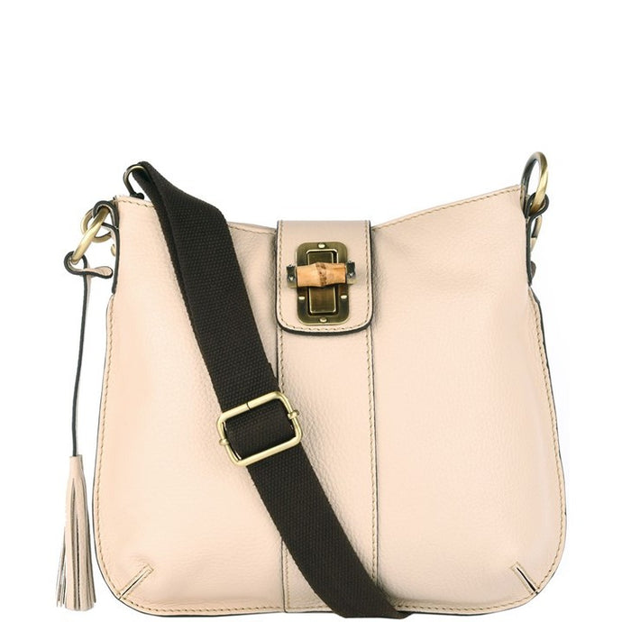 Loxwood Celia Bag with Bamboo Lock in Cream
