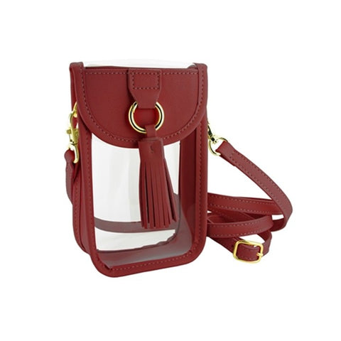 Crimson Cell Phone Crossbody