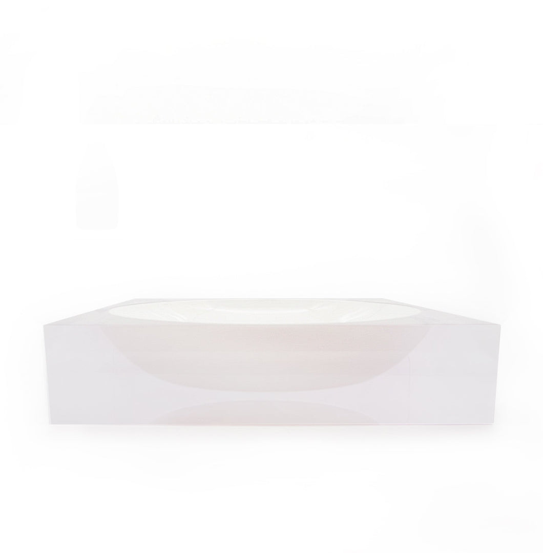 Centre Acrylic Bowl in White
