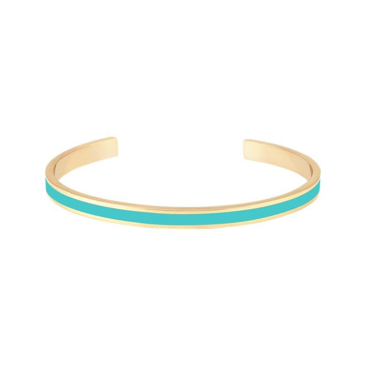 Thin Enamel Bangle in Turquoise