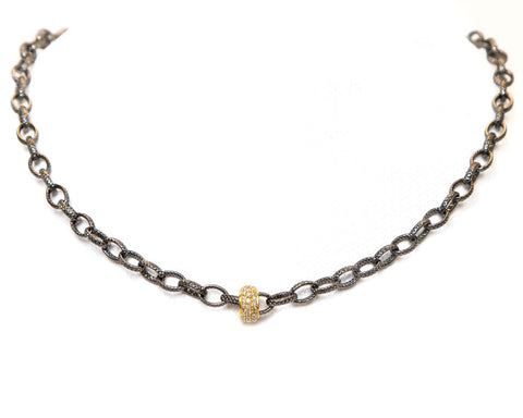 Cindy Ensor Gold Barrel Necklace